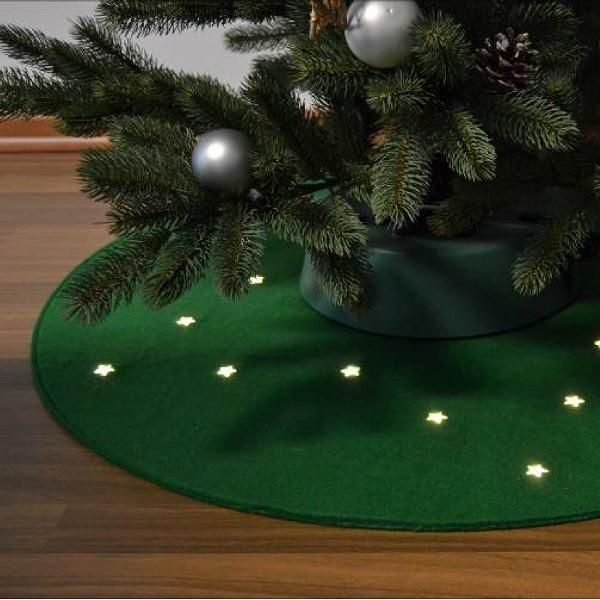 fhs weihnachtsbaum filzteppich beleuchtet modell stern. Black Bedroom Furniture Sets. Home Design Ideas