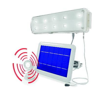 pir solar lichtsystem 10 led mit bewegungsmelder. Black Bedroom Furniture Sets. Home Design Ideas