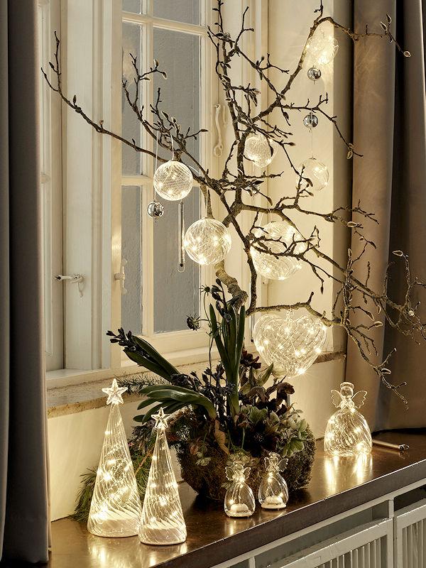 Weihnachtsbeleuchtung Engel.Sirius Led Engel Wave Angel Mini 2er Set 6 Warmweiße Led