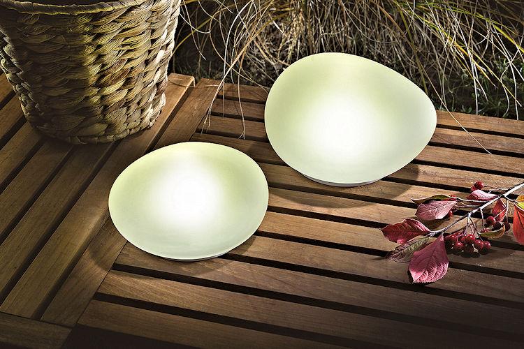 solar leuchtsteine duo 2er set echtglas satiniert led neutralwei. Black Bedroom Furniture Sets. Home Design Ideas