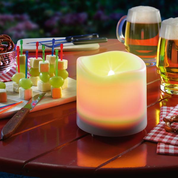 esotec solar kerze candle light gelbes flackerlicht. Black Bedroom Furniture Sets. Home Design Ideas