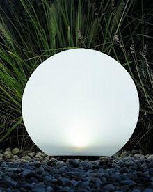solar led kugel boule 25 cm neutralwei. Black Bedroom Furniture Sets. Home Design Ideas