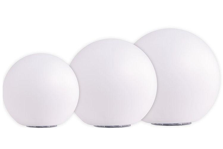 solar led kugeln 3er set boule 20 cm 25 cm 30 cm neutralwei. Black Bedroom Furniture Sets. Home Design Ideas