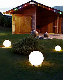 solar led kugel boule 25 cm neutralwei. Black Bedroom Furniture Sets. Home Design Ideas