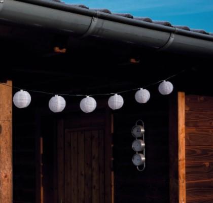 solar lichterkette bianca 10 lampions warmwei. Black Bedroom Furniture Sets. Home Design Ideas