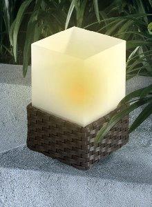 solar tischleuchte rattan flacker led. Black Bedroom Furniture Sets. Home Design Ideas