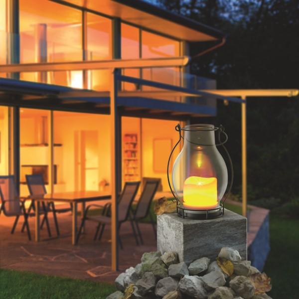 esotec solar windlicht deko dream metall glas solarkerze mit gelbem flackerlicht. Black Bedroom Furniture Sets. Home Design Ideas