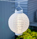 LUMINEO Solar-Lampion LED China-Laterne 20 cm Warmweiss