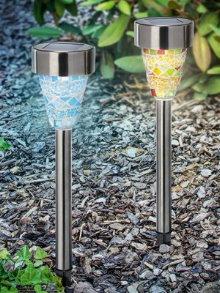 solarleuchte color dream mosaik glas bunt 3er set. Black Bedroom Furniture Sets. Home Design Ideas