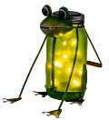 HEITRONIC LED-Solarleuchte Frosch Richard warmweiss