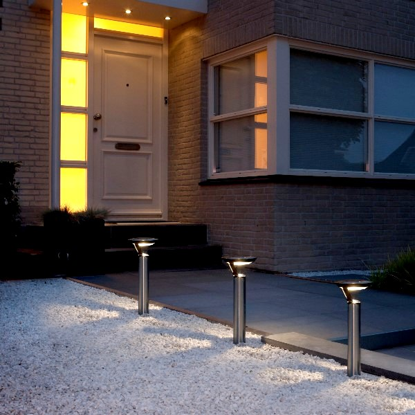 luxform solarleuchte perpignan edelstahl warmwei. Black Bedroom Furniture Sets. Home Design Ideas