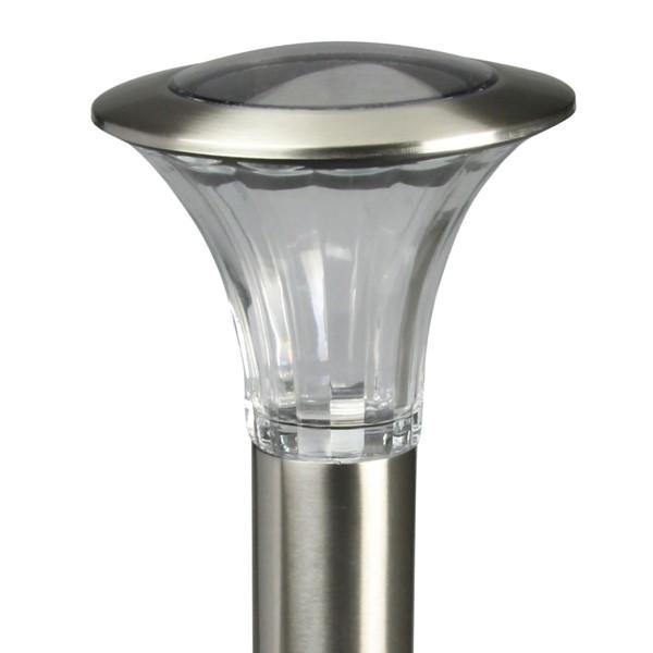 luxform solarleuchte reims edelstahl glas warmwei. Black Bedroom Furniture Sets. Home Design Ideas