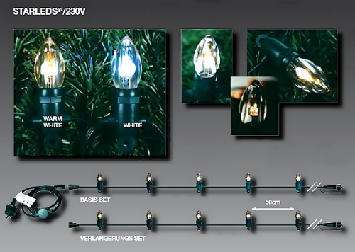 fdl starleds led lichterkette erweiterungs set 10m 20 led kerzen 60 led wei. Black Bedroom Furniture Sets. Home Design Ideas