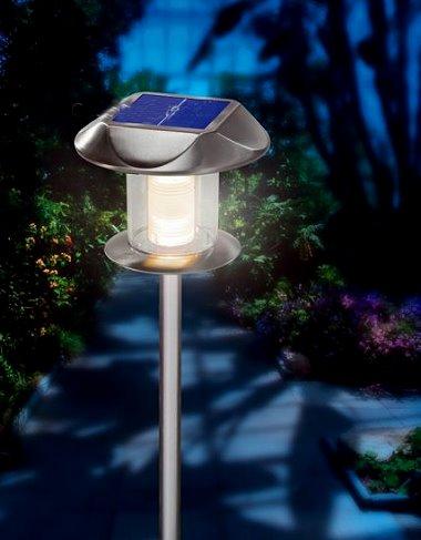 solarleuchte sunnylight 2 in 1 edelstahl warmwei. Black Bedroom Furniture Sets. Home Design Ideas