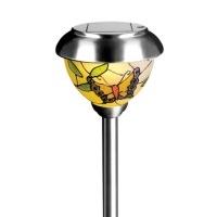 solarleuchte tiffany edelstahl glas warmweiss. Black Bedroom Furniture Sets. Home Design Ideas