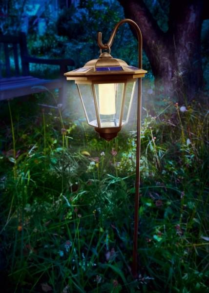Tivoli solarlaterne kupferfarben warmweiss for Faroles solares para jardin