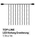 SIRIUS Top-Line-System LED-Erweiterungs-Lichtervorhang 100 LED warmweiß