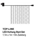 SIRIUS Top-Line-System LED-Lichtervorhang 100 LED warmweiß
