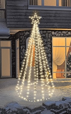 fdl led tannenbaum tree kit timer batteriebetrieben 200 cm 100 warmwei e led twinkle effekt. Black Bedroom Furniture Sets. Home Design Ideas