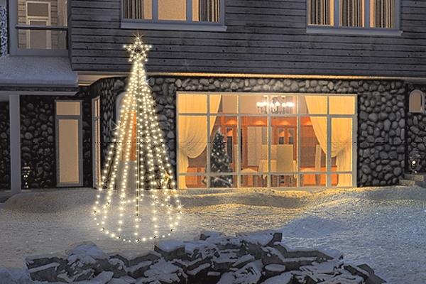 Tannenbaum Outdoor.Fdl Led Tannenbaum Tree Kit 300 Cm 300 Warmweiße Led Twinkle Effekt