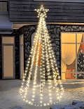 FDL LED-Tannenbaum Tree Kit 270 cm 300 warmweiße LED Twinkle-Effekt