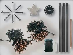 fdl led tannenbaum tree kit timer batteriebetrieben 200 cm. Black Bedroom Furniture Sets. Home Design Ideas