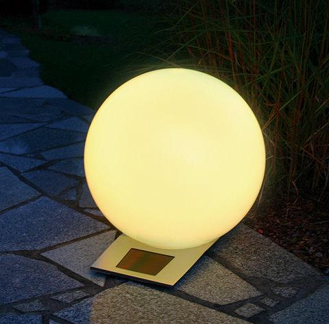 solar kugelleuchte trendy 50 cm 7 farbiger lichtwechsel oder dauerlicht. Black Bedroom Furniture Sets. Home Design Ideas