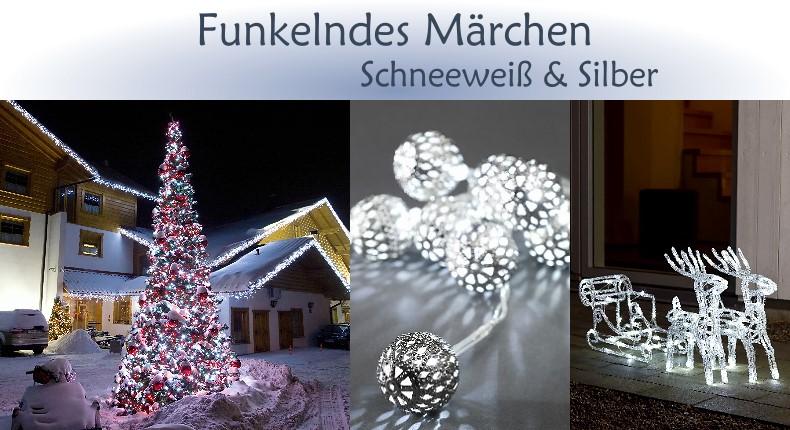 Universal Needs Weihnachtsbeleuchtung.Weihnachtsbeleuchtung Trend Funkelndes Märchen Schneeweiß Silber